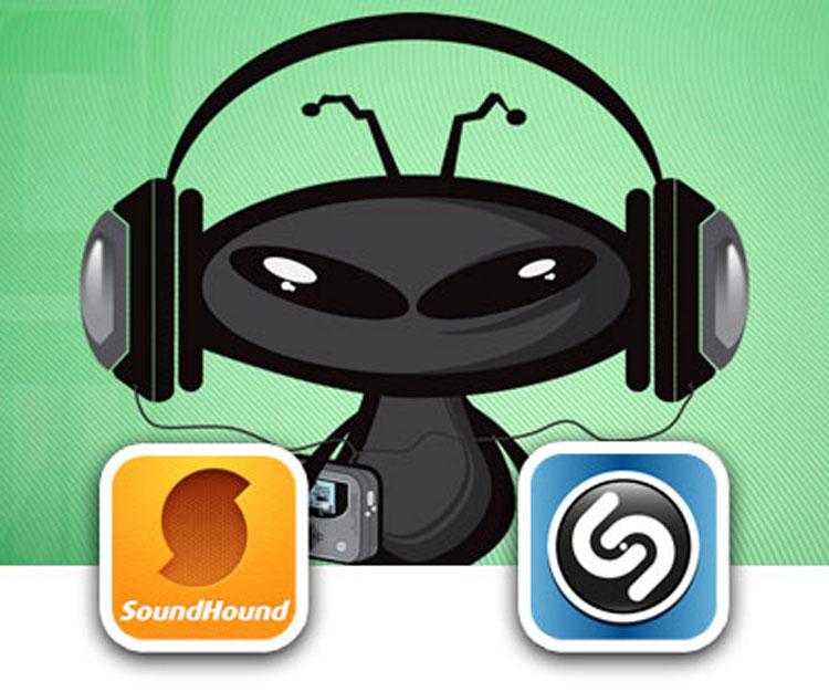 Музыкальные приложения Shazam и Sound Hound для Iphone