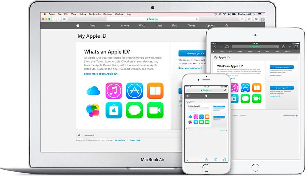 Выполнение отмены регистрации Apple ID