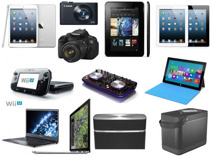 Разнообразие электронных устройств для подарка близким