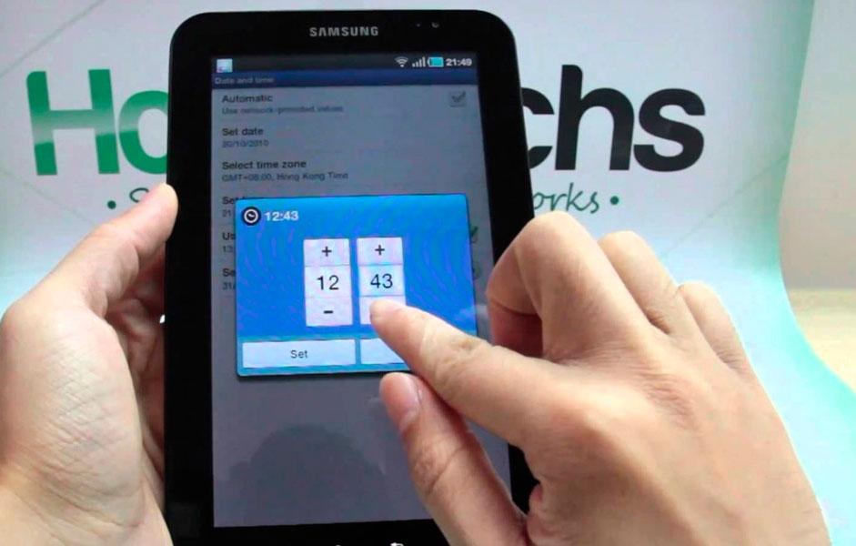 Настройка даты и времени на смартфонах Samsung