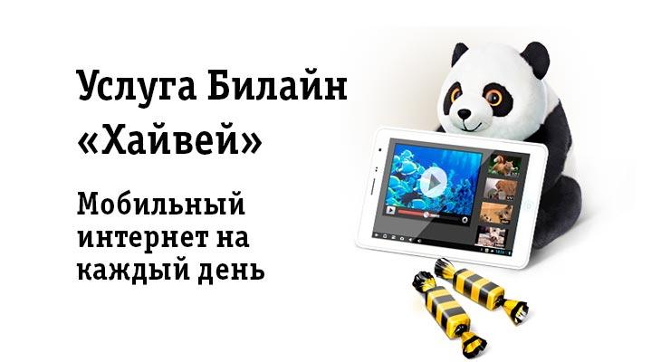 4G-интернет Билайн для планшета: опции «Хайвей