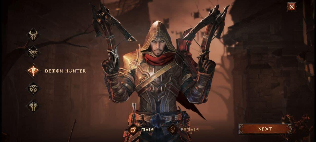 Diablo Immortal женский персонаж Demon Hunter