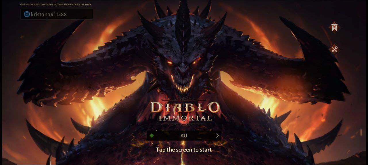 Diablo Immortal экран загрузки