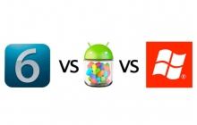 Сравнительная характеристика Android 4.1 iOS 6 и Windows Phone 8