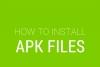 Установка приложений через apk файл